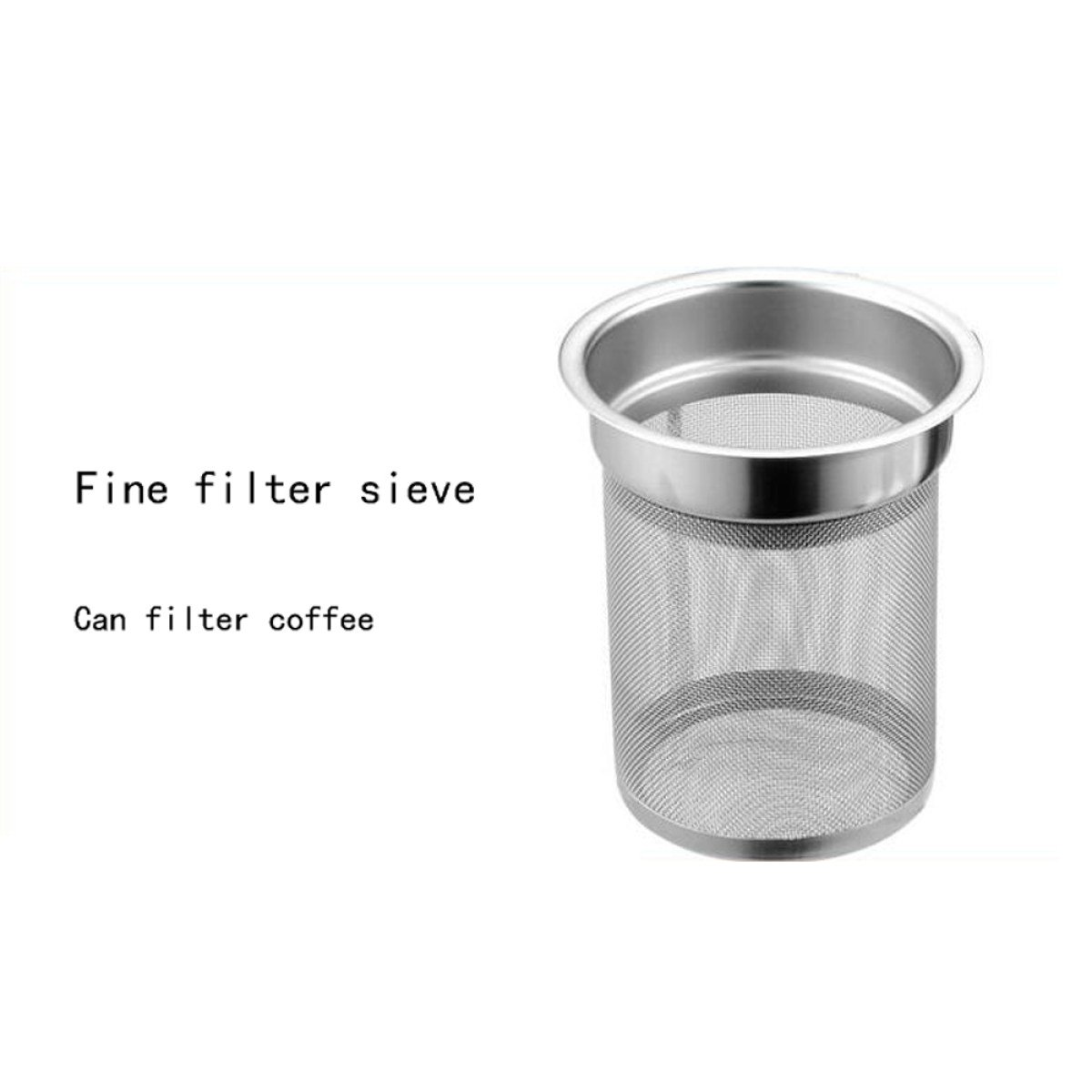 GERMER Stainless Steel Tea Coffee Pot 1.2L,White