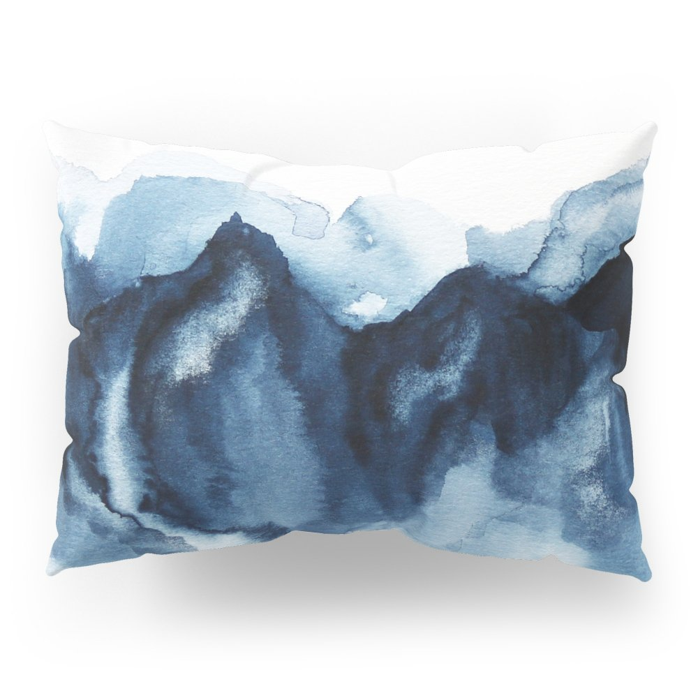Society6 Abstract Indigo Mountains Pillow Sham Standard (20'' x 26'') Set of 2