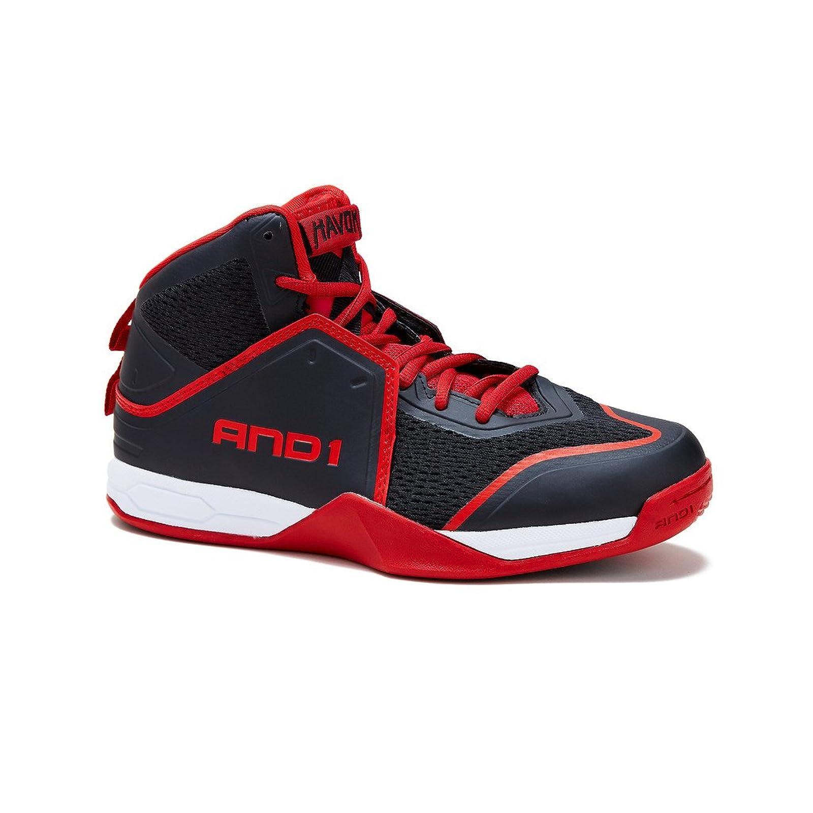 AND1 Men's Havok-M Basketball Shoe Blue - 6