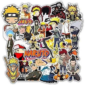 63Pcs Japan Anime Naruto Sasuke Cartoon Stickers for Laptop Luggage Decor Fridge