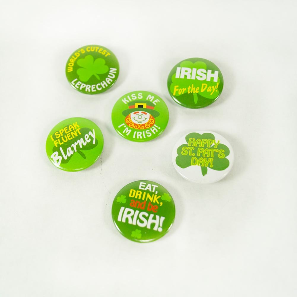 Mini Shamrock Buttons St. Patrick's Day Novelty Favors Gifts ,48 count