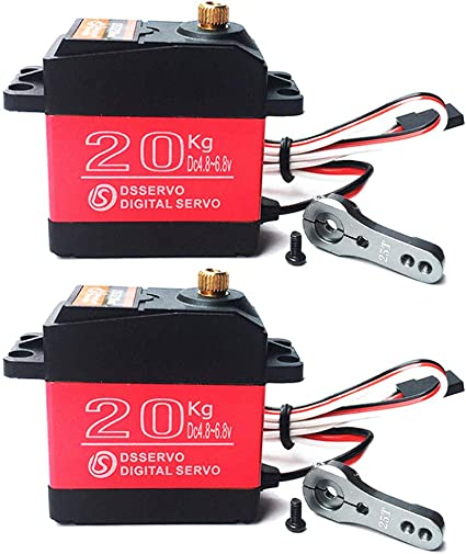 2PCS DS3218 High Torque Metal Gear Digital Servo Water Resistant RC Servo 20kg 270 Degree Rotation RC Toys DIY Model for Baja Cars