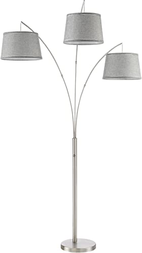 Kira Home Akira 78.5″ Modern 3-Light Arc Floor Lamp