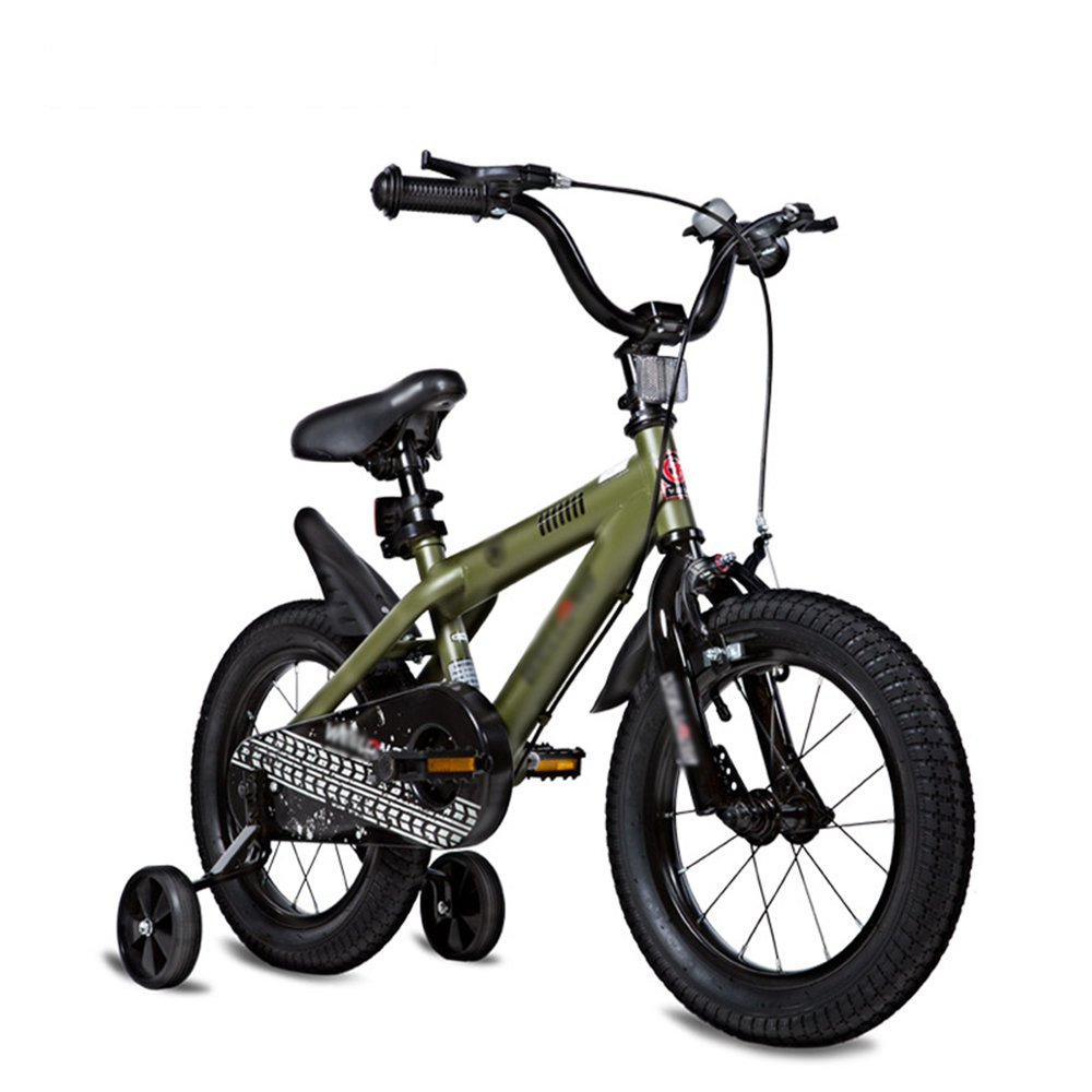 FEIFEI 子供の自転車のサイズオプション12インチ14インチ16インチ18インチ20インチ環境保護材料6色オプション (色 : 緑, サイズ さいず : 14 inches) B07CRFYZ54 14 inches|緑 緑 14 inches