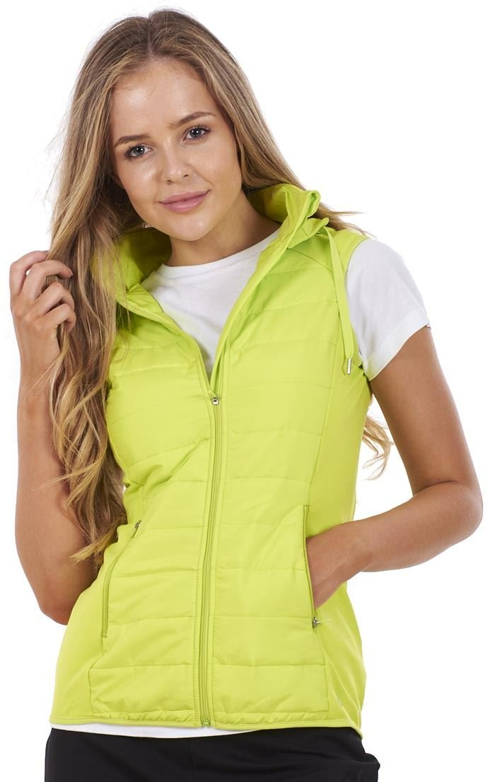 Ex Famous Store Ladies Fitness Removable Hood Bodywarmer Running Top Gym Active Sports Gilet
