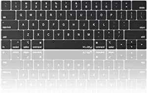 Kuzy - MacBook Pro Keyboard Cover with Touch Bar for 13 and 15 inch 2019 2018 2017 2016 (Apple Model A2159, A1989, A1990, A1706, A1707) Silicone Skin Protector - Oxy Black