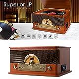 ION AUDIO Superior LP レトロ調 レコードプレーヤー Bluetooth対応カセットテープ / CD / ラジオ / USB 対応 (アイオンオーディオ)