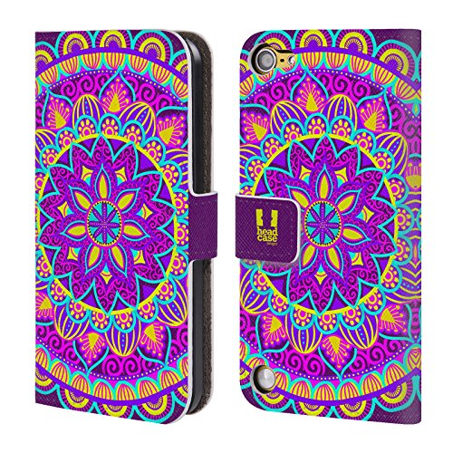 Official One Direction 1D Spellbinding Blossom Mandala Flowers Leather Book Wallet Case Cover for Apple iPod Touch 5G 5th Gen / 6G 6th Gen