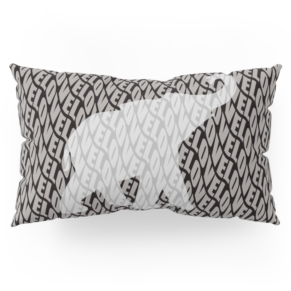 Society6 I Love The Elephant Pillow Sham King (20'' x 36'') Set of 2