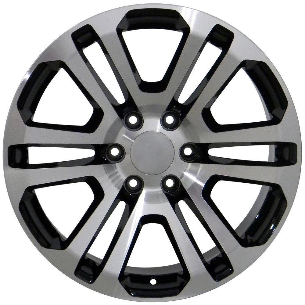 All Chevy black chevy rims : Amazon.com: 20x9 Wheels Fit GM Trucks - Sierra Style Rims - Black ...