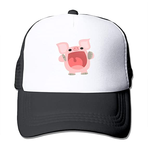 033c175ae21 Image Unavailable. Image not available for. Color  Cute Cartoon Pig Trucker  Hat ...