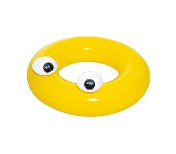 36119 Flotador BESTWAY con ojos movibles incorporados 91cm diámetro para niños - Amarillo