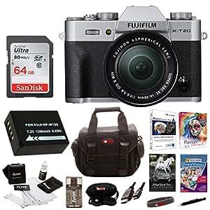 Fujifilm X-T20 Camera Body w/ XC16-50mm Lens Kit + 64gb Bundle