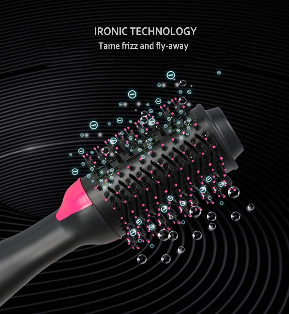 One Step Hair Dryer and Styler Volumizer, Hair Dryer Brush, Hot Air Brush, 3 in 1 Smooth Frizz with Ionic Technology Brush by ROUNDSQUARE by ROUNDSQUARE (Image #5)