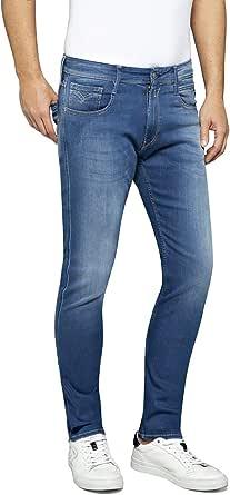 REPLAY Anbass Pantalón Vaquero Hombre Denim Slim Fit con Cintura Regular, Jeans Slim Fit para Hombres, Tallas: 27-40