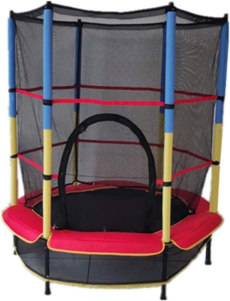 Ronda de la Aptitud Trampolines niños Indoor jardín al Aire Libre del Parque Mini trampolín con Red de protección Fácil Desmonte los niños de instalación recreativa de Rebote de Cama