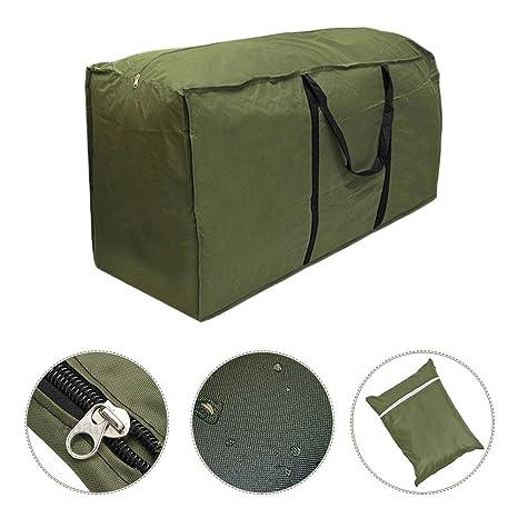 Sac de rangement pour coussins de meubles de jardin - Sac de transport  léger et imperméable pour coussins de mobilier d\'extérieur C: 173 x 76 x 51  ...