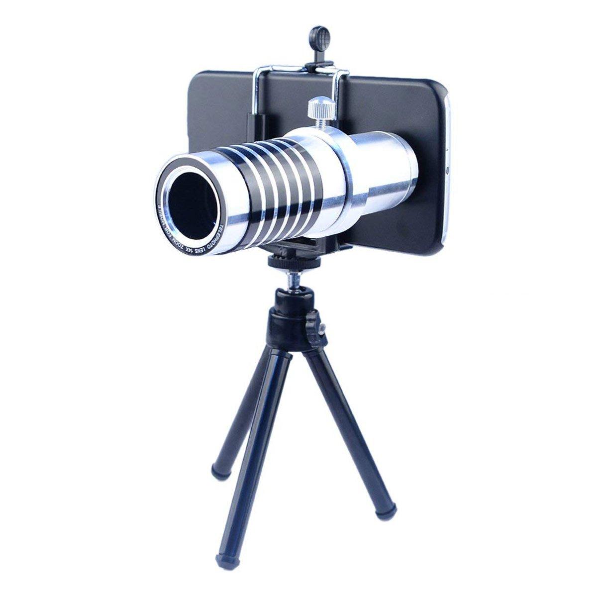 Nanle Camera Phone Lens Kit Including 14x Manual Focus Telephoto Lens/Fisheye Lens/Wide Angle Lens/Macro Lens