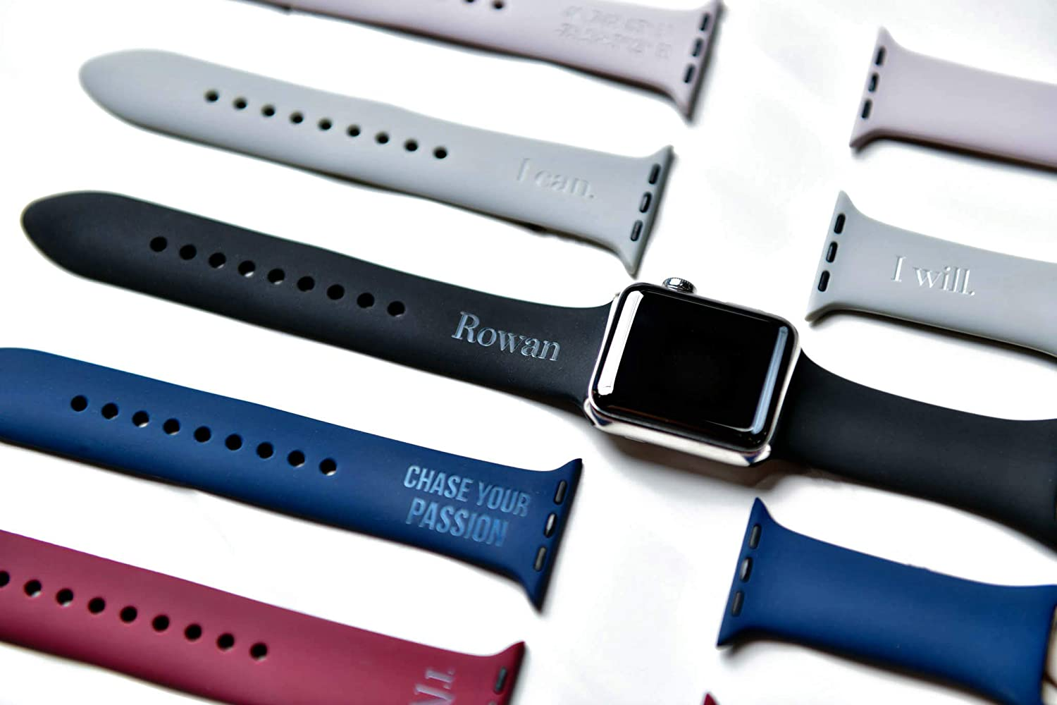 Amazon Com Personalized Name Or Monogram Apple Watch Bands All Sizes Handmade