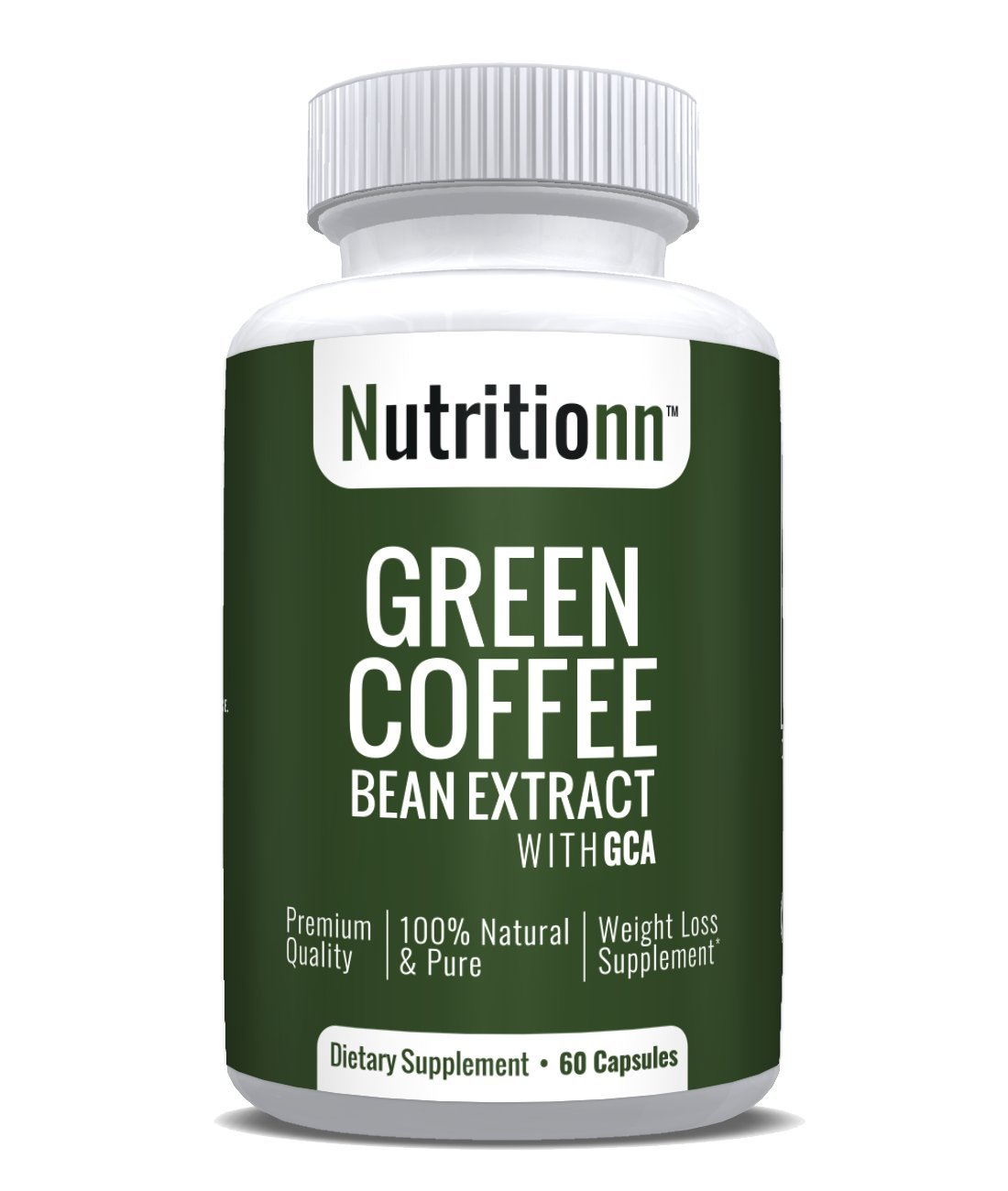 Green Coffee Bean Extract by Nutritionn - Premium Weight Loss Supplement - 60 Capsules