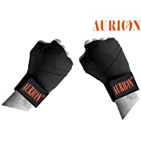 Aurion 3434 Canvas Boxing Hand Wraps, 108-inch (Black/Red/Blue)