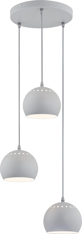 Lámpara colgante blanco gris de 3 focos VERS etzt de la ...