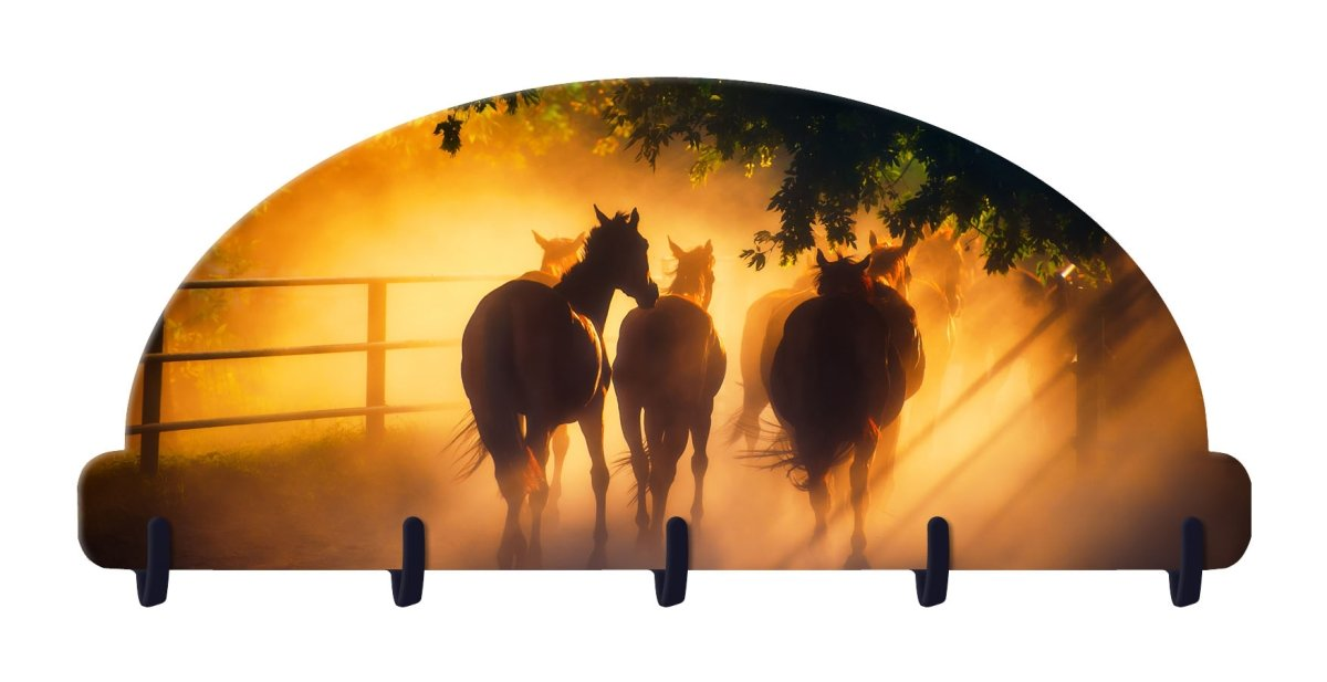 Next Innovations 101412001-EQUINEMORN 8 x 4 in. Equine Morning Key Rack