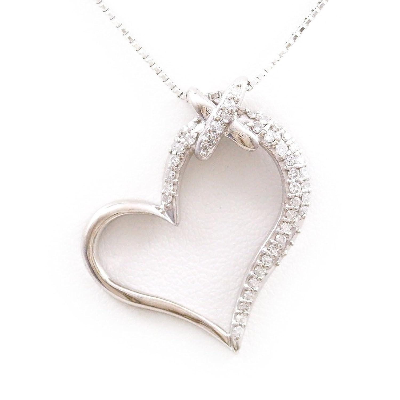 K14 14金 WG ホワイトゴールド ネックレス ダイヤ 0.34 中古ジュエリー 【中古】 B079XSB83X