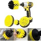 Power Scrubber Brush Set for Bathroom | Drill Scrubber Brush for Cleaning Cordless Drill Attachment Kit Power Scrub Brush Combo Tool Kit(4 Pack)