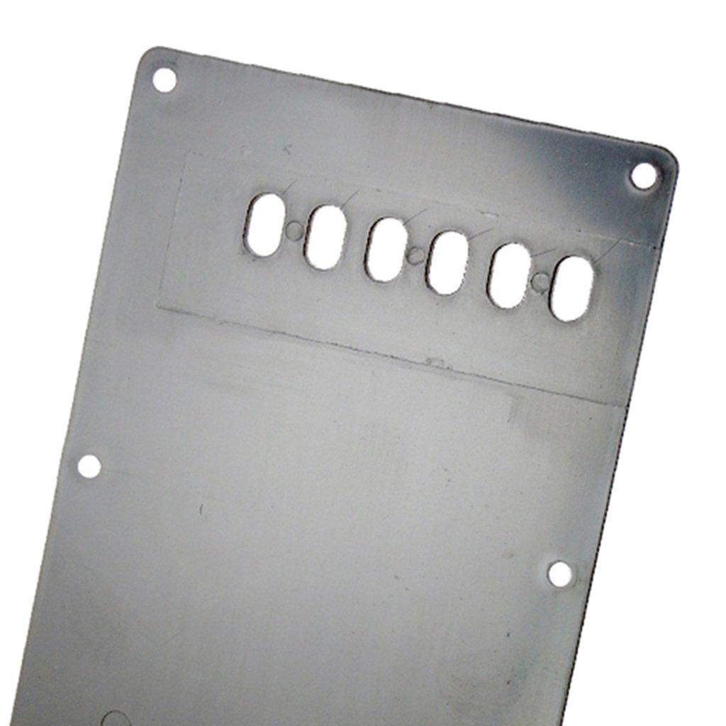 B Blesiya 1 Set 1//4inch Boat Shape Output Jack Plate+Tremolo Cavity Cover Back Plate for Stratocaster Guitar