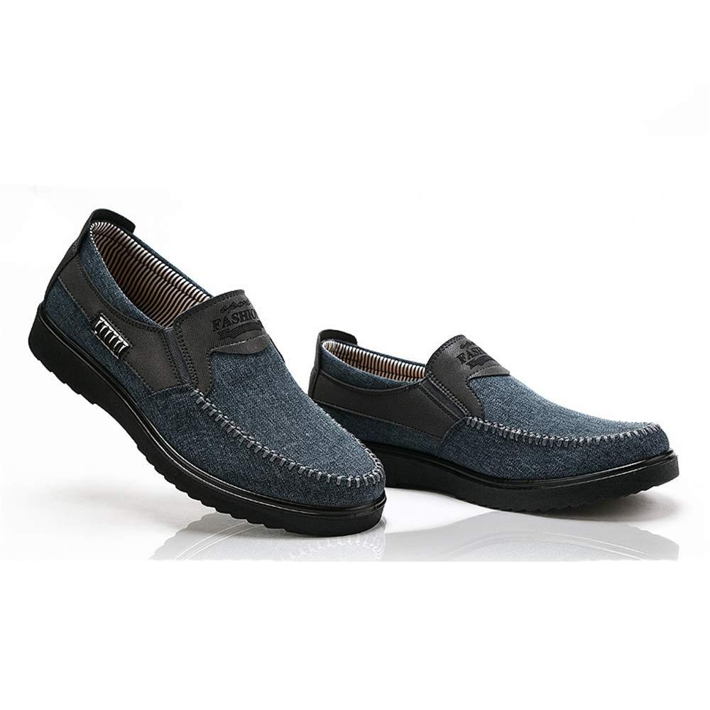 Fuxitoggo   Herren-alte Peking-Stoff beschuht weiche Sohle Schuhe Nicht Beleg-beiläufige Breathable dauerhafte Schuhe Sohle (Farbe : Blau, Größe : EU 43) Blau 8310ac
