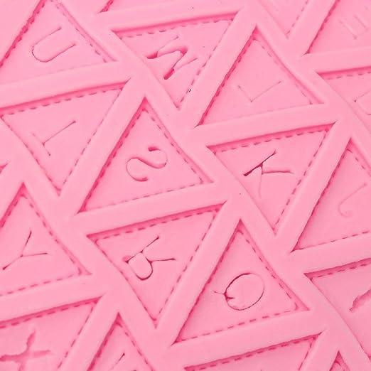 vitoki banderines bandera de letra del alfabeto de silicona decoración de chocolate molde de pastel fondant hornear: Amazon.es: Hogar