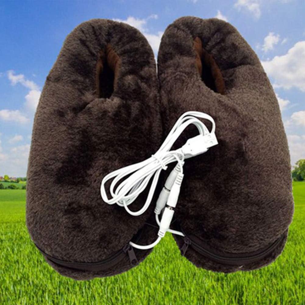 Faderr Pantuflas térmicas, para el hogar, Invierno, USB, Alivio ...