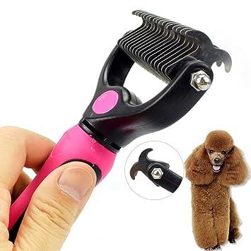SDGDFXCHN Pet Cepillo de Lujo Pet Peine Doble Abrir Nudo Cuchillo rastrillo Acero Inoxidable Gato y Perro peluquería Herramientas: Amazon.es: Productos para ...