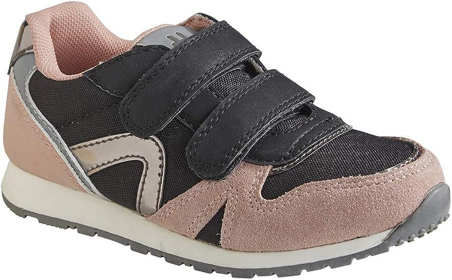 VERTBAUDET Zapatillas Estilo Running con Tiras autoadherentes para niña Negro Medio Liso 32: Amazon.es: Deportes y aire libre