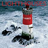 Graphique Lighthouses Wall Calendar - 16-Month 2019 Calendar, 12''x12'' w/ 3 Languages, 4-Month Preview, Marked Holidays