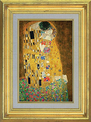 Creative 3D Visual Effect Wall Mural The Kiss by Gustav Klimt Peel Stick Wall Decor