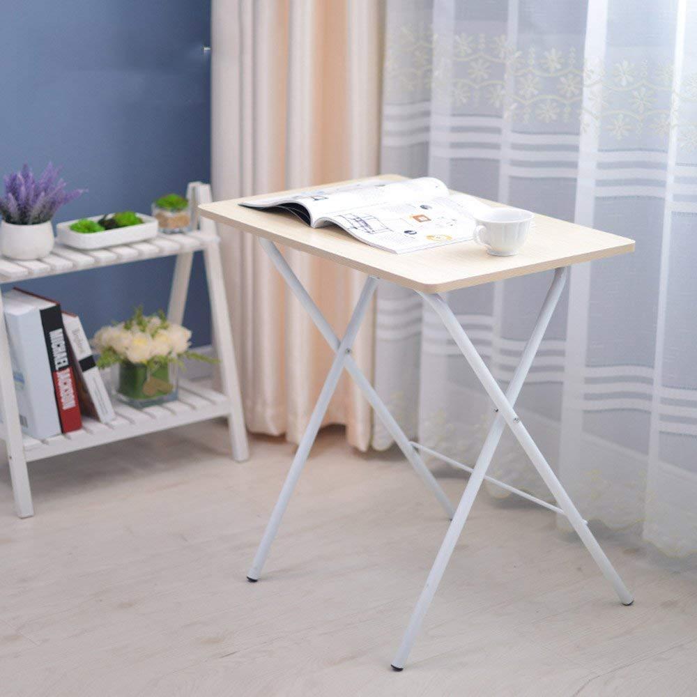 GWFVA Mesa Plegable Mesa Mesa pequeña Cama con Escritorio para ...