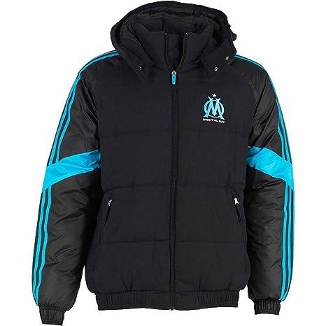 competitive price 68959 a2b84 adidas Olympique de Marsella Chaqueta Hombre Chaqueta De Invierno Chaqueta  Acolchada Negro f83963
