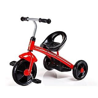 CAH-Travel Systems Triciclo per Bambini 2-4 Carrozzina per Uomini E Donne Giocattoli per Bambini Veicoli Cura Bambini Bicicletta Bambino Ragazzi Ragazze Regali,Yellow