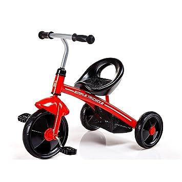 JZM Triciclo para Niños 2-4 Carro De Bebé Hombres Y Mujeres Juguetes para Bebés Vehículos Cuidado De Niños Bicicleta para Niños,Red: Amazon.es: Hogar