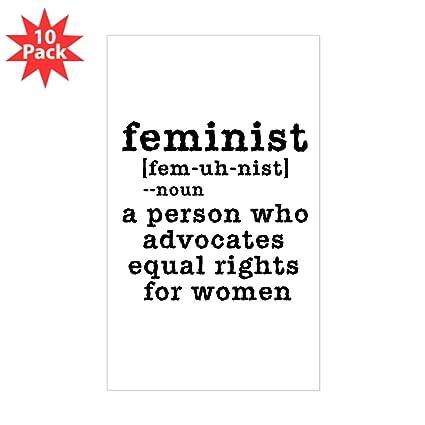 Amazon com: CafePress - Feminist Definition - Rectangle Bumper