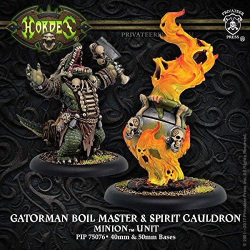 Privateer Press Gatorman Boil Master & Spirit Cauldron: Minion Unit (Resin/Metal) Miniature Game Figure