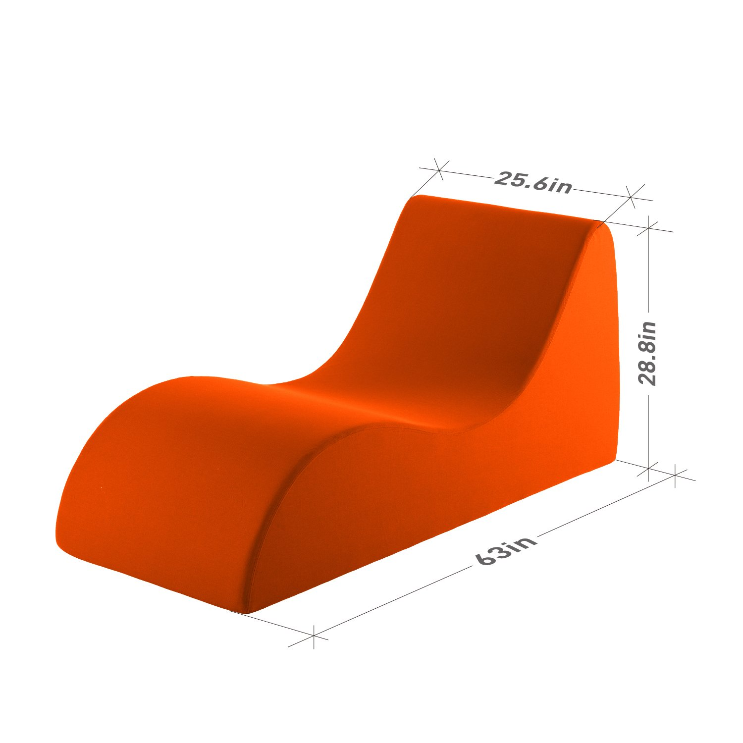 Amazon.com Vivon Comfort Foam / Lounging Accent Chair / Chaise Lounge / for the Bedroom / Family Room / Game Room Orange Kitchen u0026 Dining  sc 1 st  Amazon.com : foam chaise lounge - Sectionals, Sofas & Couches