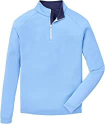 164786b9 PETER MILLAR Springs Stretch Chamois Raglan Sleeve Quarter-Zip