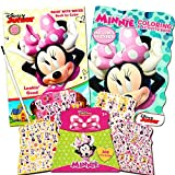 25 Disney Minnie Mouse Paint With Water Super Set Kids Toddlers -- Mess Free Book with Paint Brush Coloring Book and Stickers!