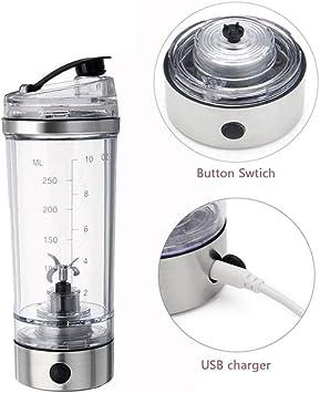 Agitador de fitness taza de agitador de proteína eléctrica botella ...