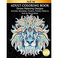 Adult Coloring Book Stress Relieving Designs Animals Mandalas Flowers Paisley Patterns And