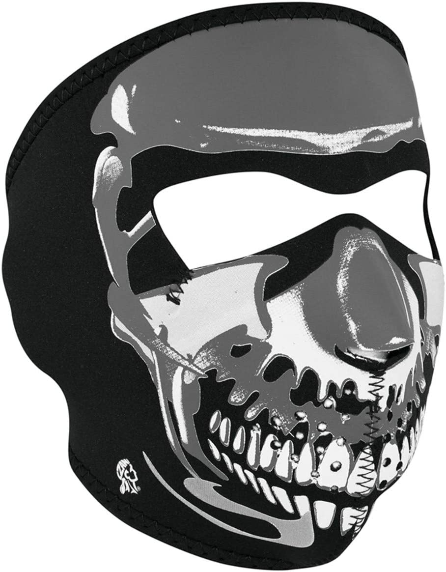 Glow in Dark Bone Neoprene Half Ski Mask Reversible Snowboard Biker Face Mask