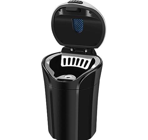 Portable Car Auto Ashtray Blue LED Light Smokeless Ashtray Cigarette Holder NT